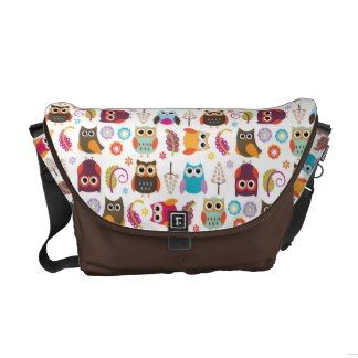 Owl Meeting Rickshaw Messenger Bag