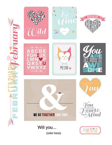 Free February Printables from Paper Crafts & Scrapbooking