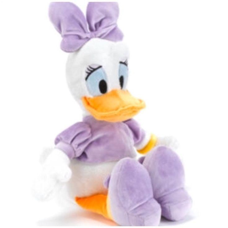 Disney Daisy Duck Plush Stuffed Animal Soft Toy White  #Disney