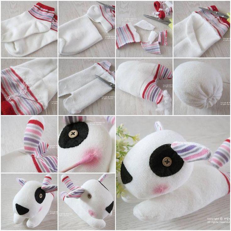 Diy Craft Projects DIY Adorable Sock Puppy.