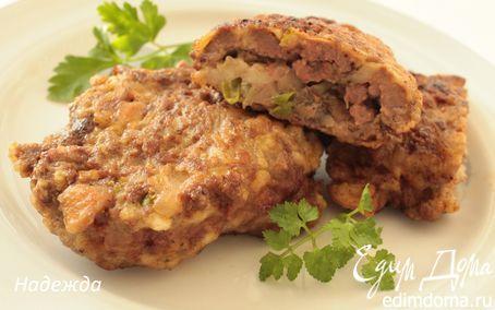 Печеночная отбивная с грибами и моцареллой   Кулинарные рецепты от «Едим дома!»