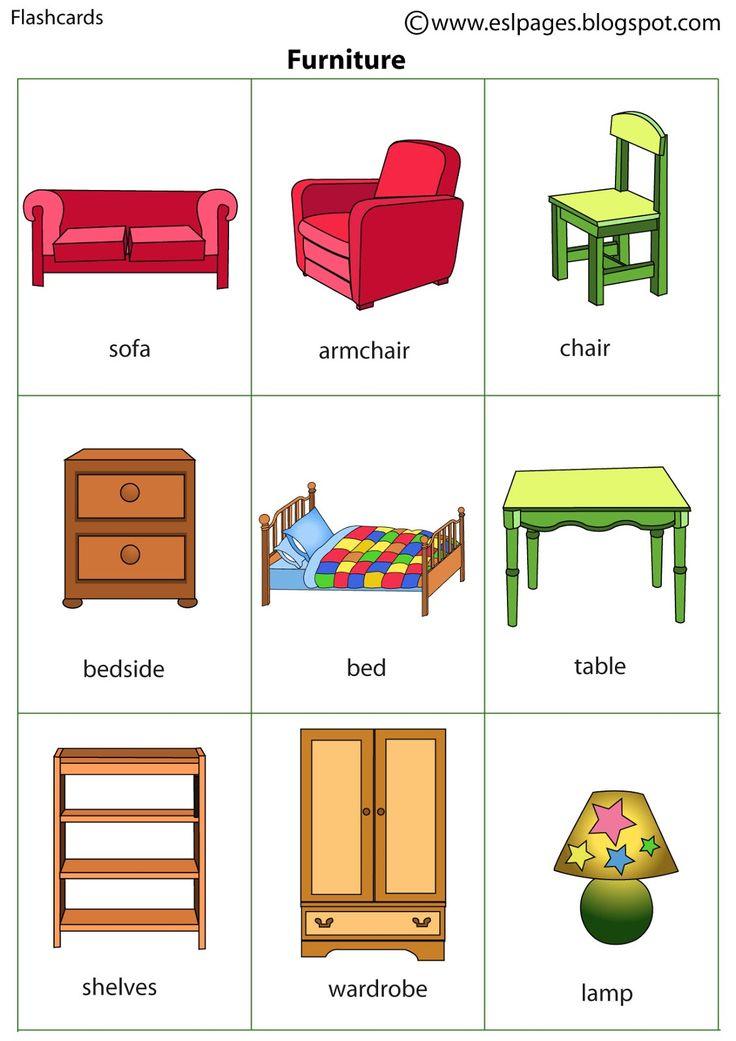 Английский мебель в картинках