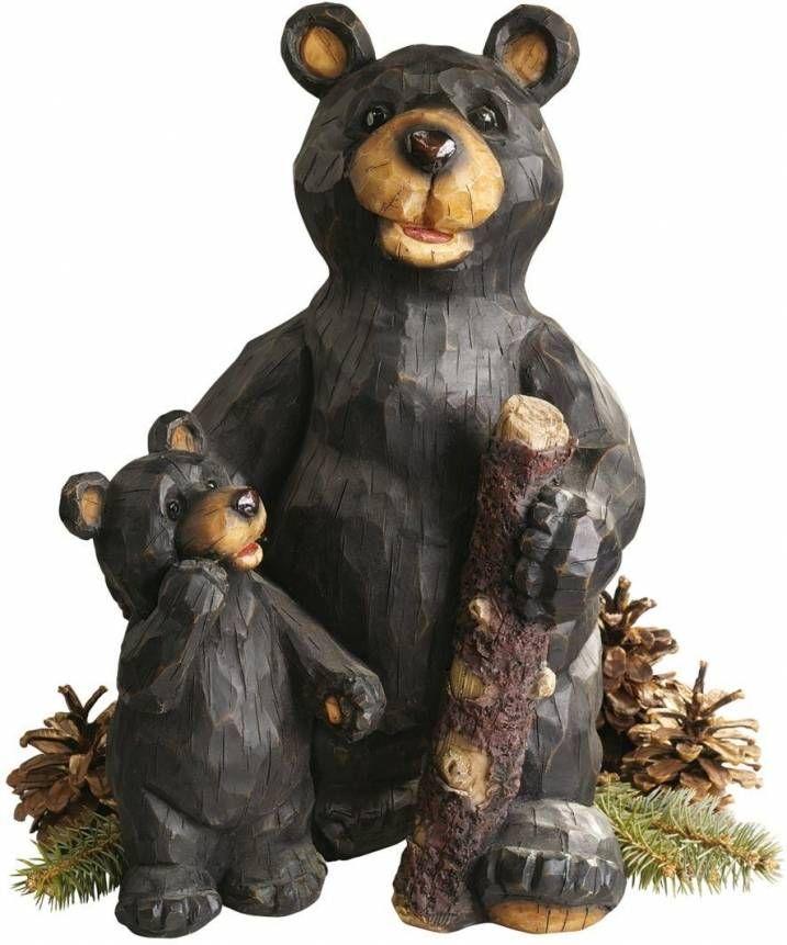 Black Forest Bears Sculpture Ornament