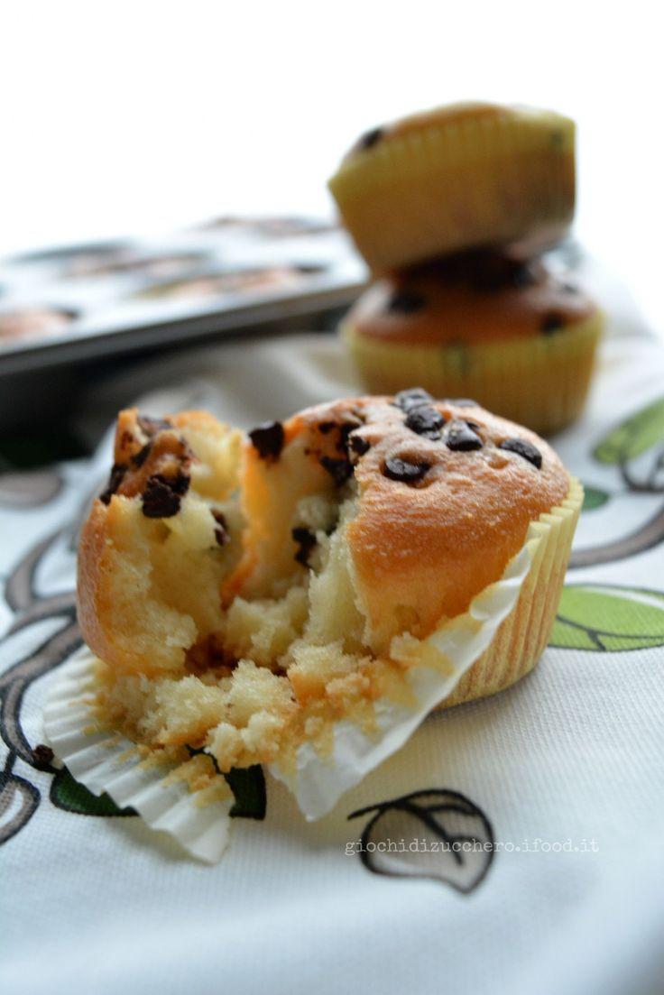 Muffins allo Yogurt con gocce di Cioccolato