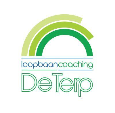 Logodesign van Web en Logo voor De Terp Coaching: Persoonlijk loopbaanadvies door zelfonderzoek. Het onderzoek biedt een transparante structuur voor zelfonderzoek naar de juiste koers in je verdere loopbaan.