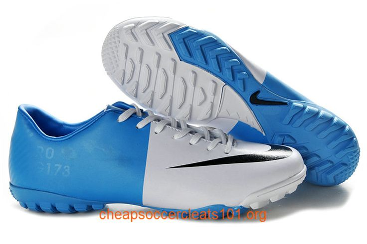 Football Boots Mercurial Victory III Astro Turf Boots Soccer Cleats Blue White