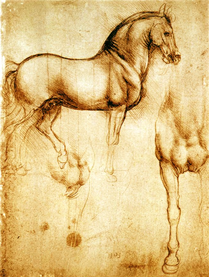 Study of horses by Leonardo da Vinci, 1490