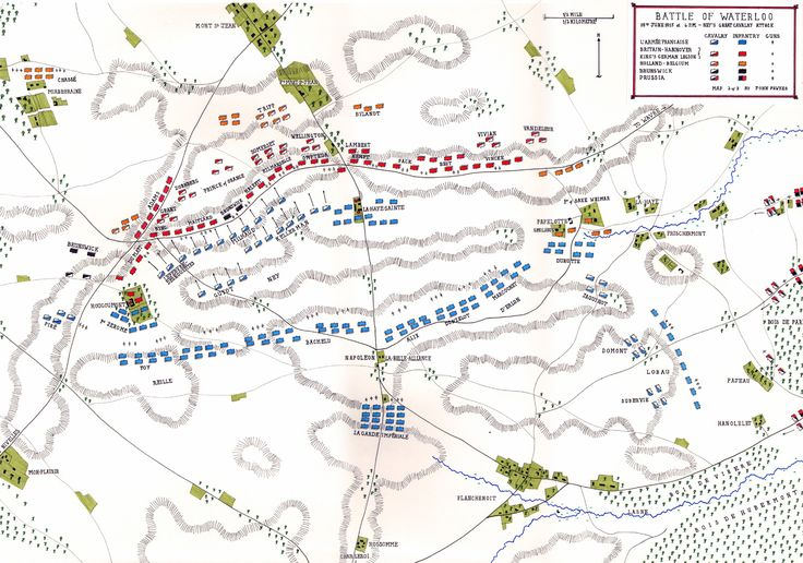 Battle of Waterloo : 4pm Ney's Great Cavalry Attack. britishbattles.com