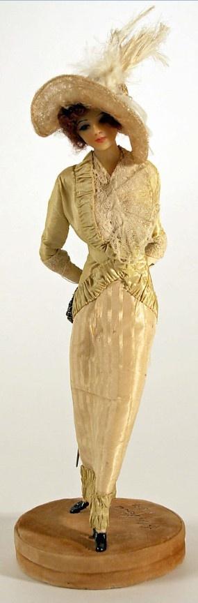 Lafitte Desirat Wax Boudoir Doll, France, 1909–14