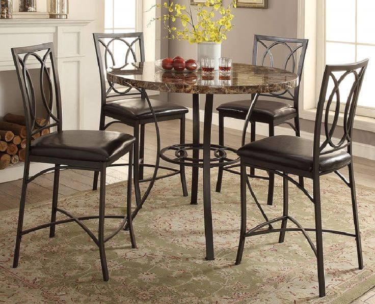 5piece faux marble pub set from big lots  dining room