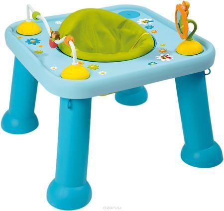 """Smoby Стол-трансформер цвет голубой  — 8634р. ------------------ Детский стол-трансформер Smoby станет самым любимым местом для вашего малыша. На стол можно установить игрушки: зеркальце в виде цветочка и изображением Тулипа - одного из персонажей Cotoons, и """"лабиринт"""" с Зумом. В центре стола предусмотрено сидение, вращающееся на 360 градусов и регулирующееся по высоте, а устойчивые ножки столика позволят не беспокоиться о безопасности ребенка. Когда ребенок подрастет, игрушки можно убрать…"""
