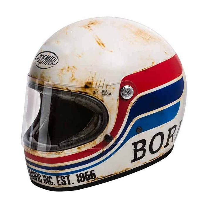 "PREMIER Trophy ""BTR 8 BM"" with ECE standard. Retro motorcycle helmet with cool vintage used look. More retro helmets at our store!"