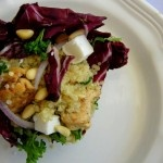 cold quinoa salad with radicchio, chicken & pine nuts