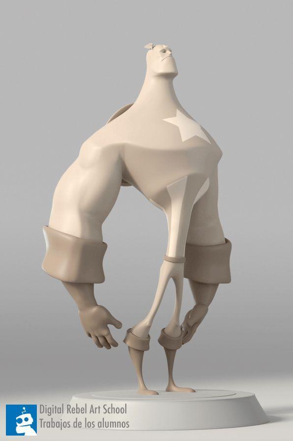 Alex Captain America 3d sculpt ★ Find more at http://www.pinterest.com/competing/:
