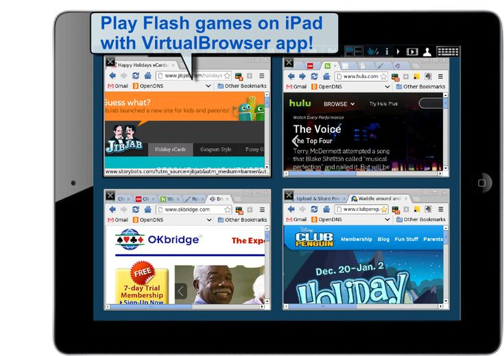 screenshot of the best Flash Player for iPad