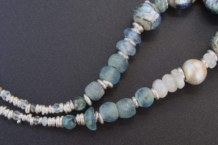 lampwork and silver necklace seau0027 beads and jewelry by elena doronina pinterest beads creative and etsy