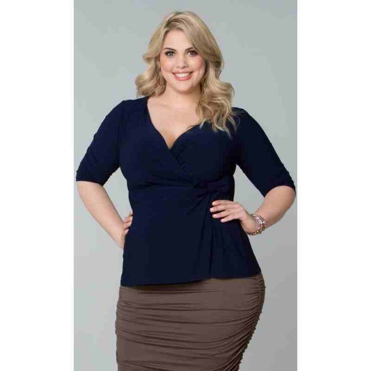 PRE-ORDER - Audrey Faux Wrap Top (Navy Blue) $80.00 http://www.curvyclothing.com.au/index.php?route=product/product&path=95_103&product_id=8209