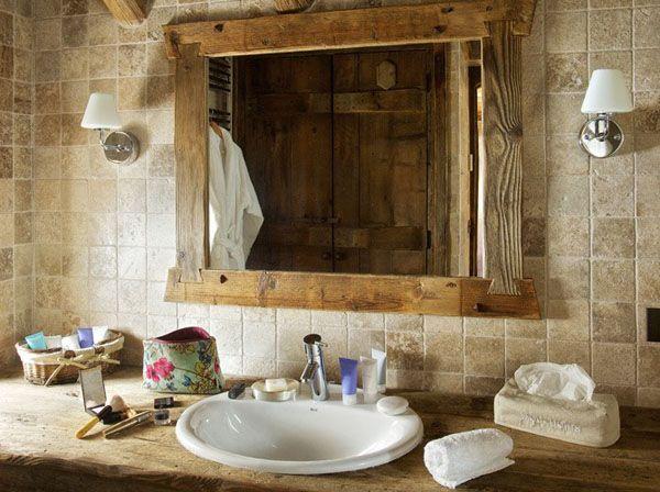Un baño rústico