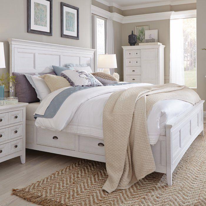 Birch Lane Heritage Calila Storage Standard Bed Wayfair White Panel Beds White Paneling Bedroom Furniture Sets