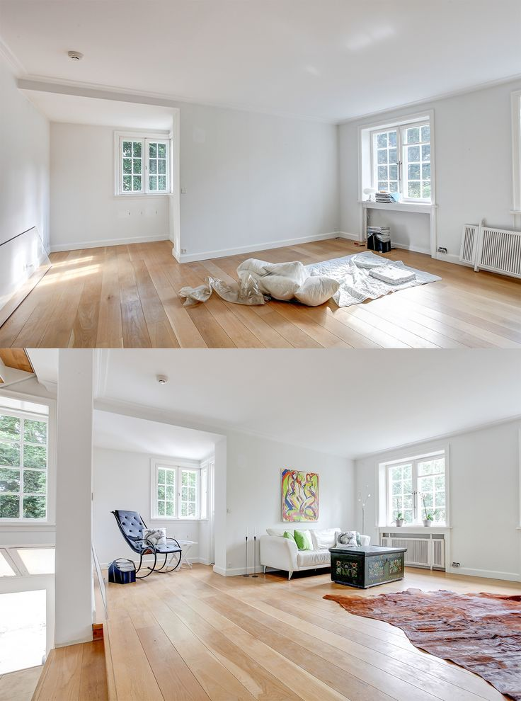 Staging of an empty villa north of Copenhagen.   Styled by Busy Bees - www.busybees.dk
