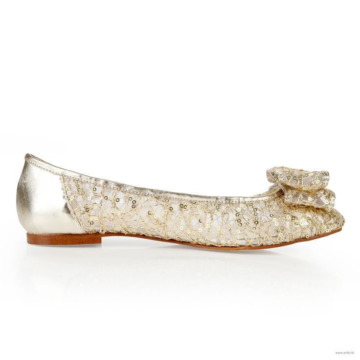 wedding shower Comforts Gold Beaded Lace shoes with Rhinestones $41.98