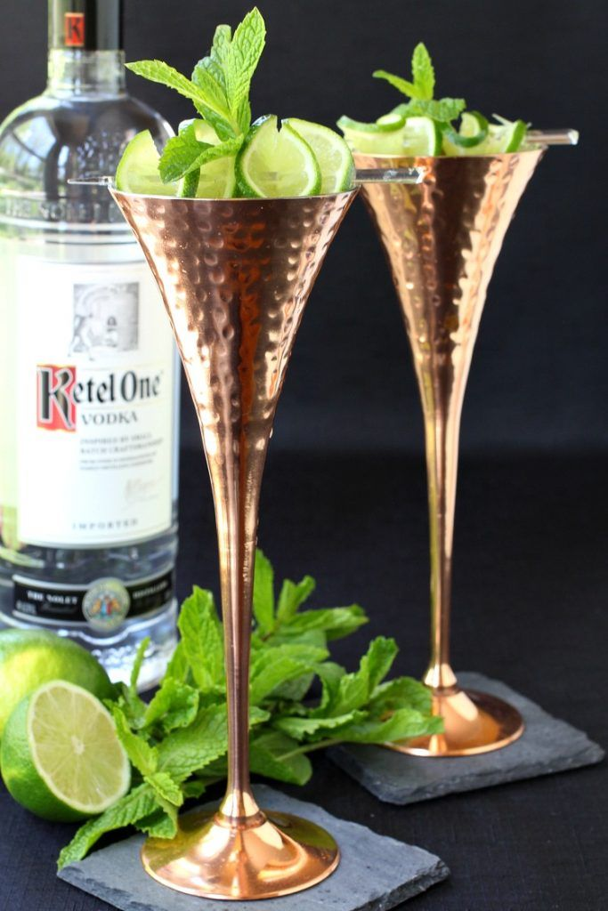 Instead of a Moscow Mule try my Champagne Mule cocktail, swapping out the ginger beer for champagne!