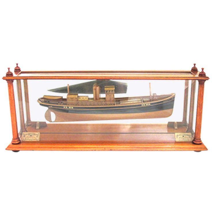 Victorian Ship Builderu0027s Model Of Steel Herring Drifter