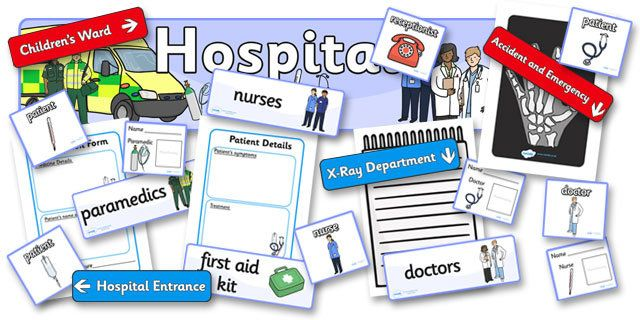 Hospital Role Play Pack - Hospital Role Play, hospital resources, Role Play Pack - role play, Display signs, display, labels, packpeople who help us, nurser, doctor, hospital, ward, bandages, role play, display, poster