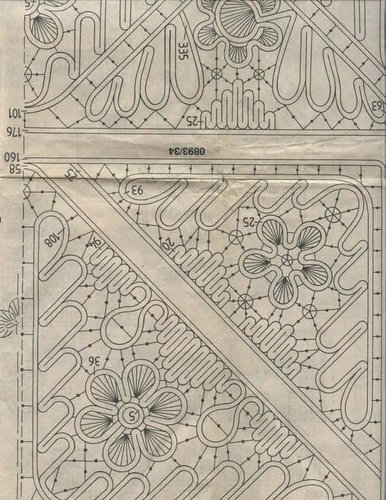 Romanian point lace - tablecloth pattern