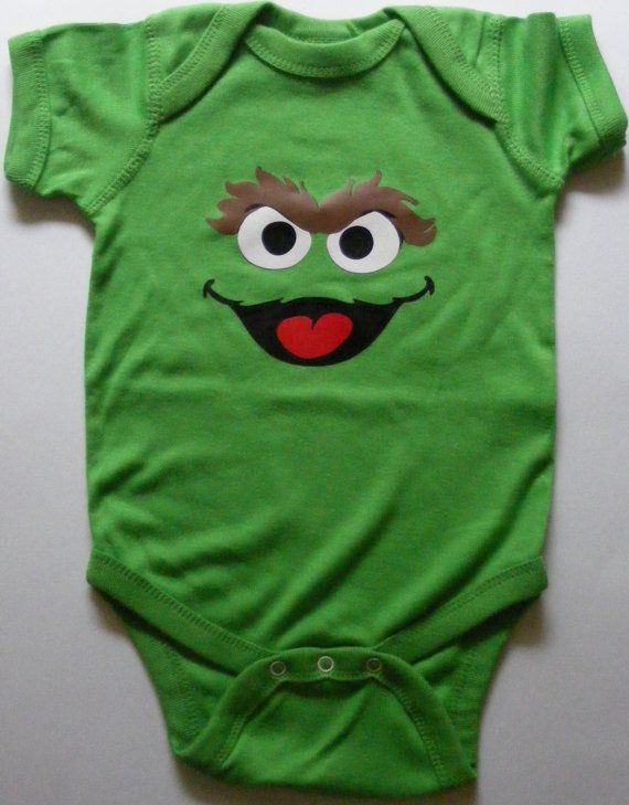 Oscar+the+Grouch+Short+Sleeve+Bodysuit+by+DumaisDesigns+on+Etsy,+$15.00