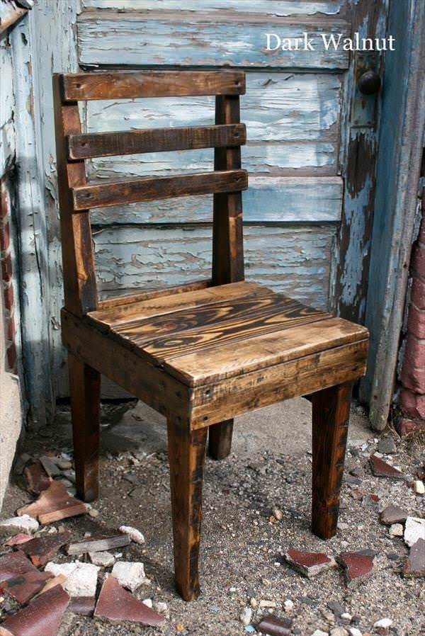 Rustic Wooden Pallet Chairs Pallet Benches, Chairs & Stools