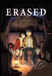 Erased(2016) - 29 year old Satoru Fujinuma is sent back in time 18 years to prevent the events leading to his mother's death, which began with a series of kidnappings in his 5th grade year.
