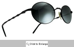 Tribal Band Oval Metal Shades Sunglasses - 507 Black
