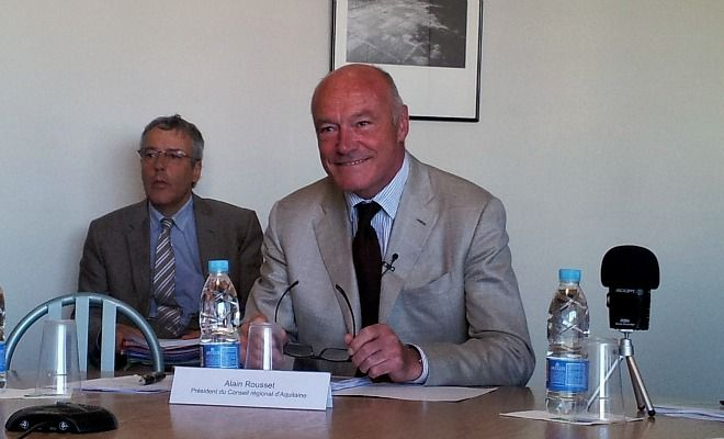Alain Rousset, le Président de la Région Aquitaine a tenu sa conférence de presse de rentrée, ce jeudi 2 octobre à l'Hôtel de région.