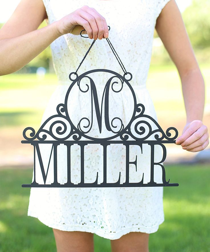 Love this Unfinished Last Name Personalized Wall Sign by Morgann Hill Designs on #zulily! #zulilyfinds