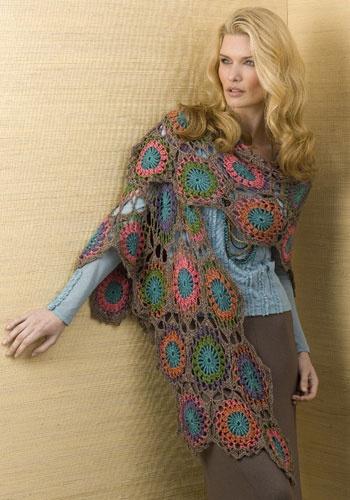 Tesoro shawl caron spa crochet patterns pinterest