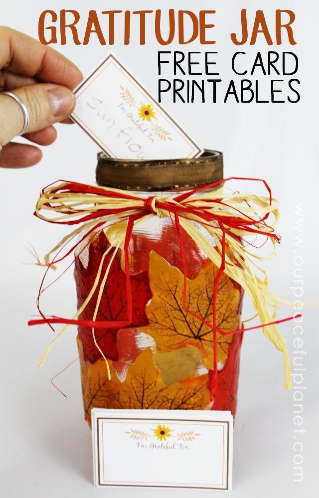 Gratitude Jar Activity Table Decor | Happy Fall, Y'all ...