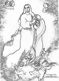 Mis puntadas preferidas: Dibujos del Inmaculado Corazón de María