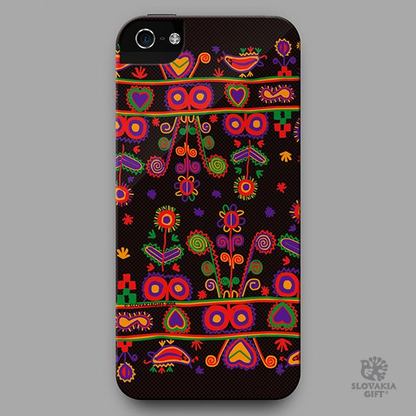 smartphone cover - design inspired by folk embroidery pattern from Nižné Repaše, Slovakia