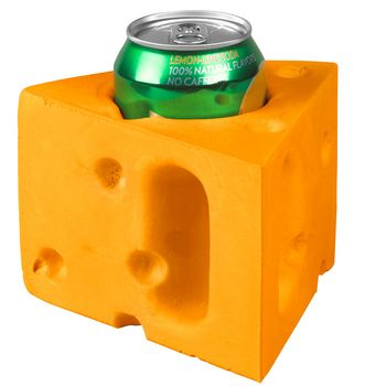 Green Bay Packers Cheesehead Can Cooler at the Packers Pro Shop http://www.packersproshop.com/sku/2004090205/
