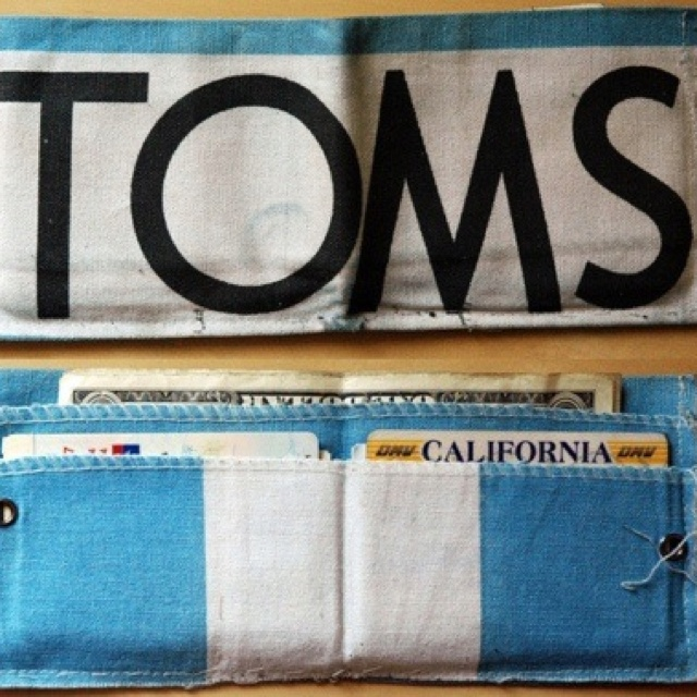 TOMS DIY wallet. Got 3 flags...anyone else want one?