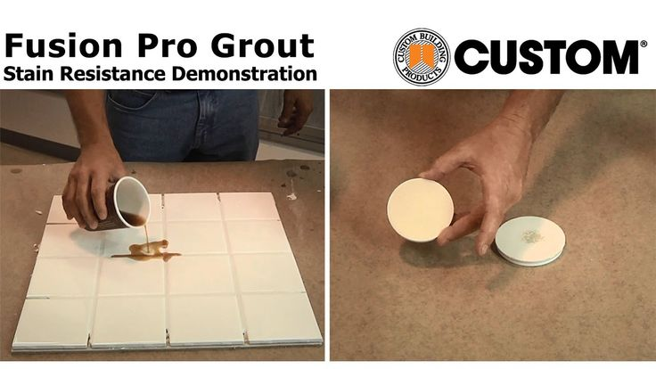 Fusion Pro® Grout Stain Resistance Demo Never have stained #grout again www.tilemaryland.com  (443)206-6820