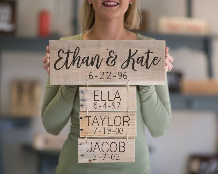 Fathers Day Gift   Family Names Wood Sign   Personalized Family Name Signs   Anniversary Gift   Family Established Sign by LoveBuiltShop on Etsy https://www.etsy.com/listing/493349587/fathers-day-gift-family-names-wood-sign