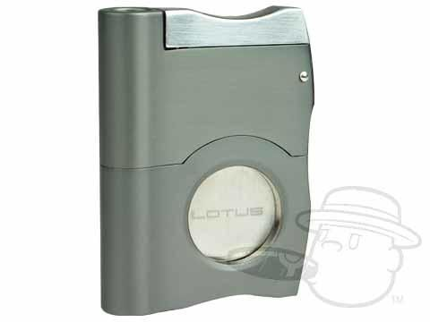 Lotus Triad Guillotine Cutter With Two Punches - Gunmetal Features:Single Action Retractable,Stainless Steel Blade,Two Retractable Punches,Limited Lifetime Warranty, - Best Cigar Prices