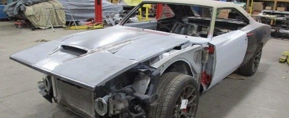 1969 Dodge Charger Body Dropped onto Challenger Hellcat Shell, 6.2L V8 In Place - https://www.musclecarfan.com/1969-dodge-charger-body-dropped-onto-challenger-hellcat-shell-6-2l-v8-place/