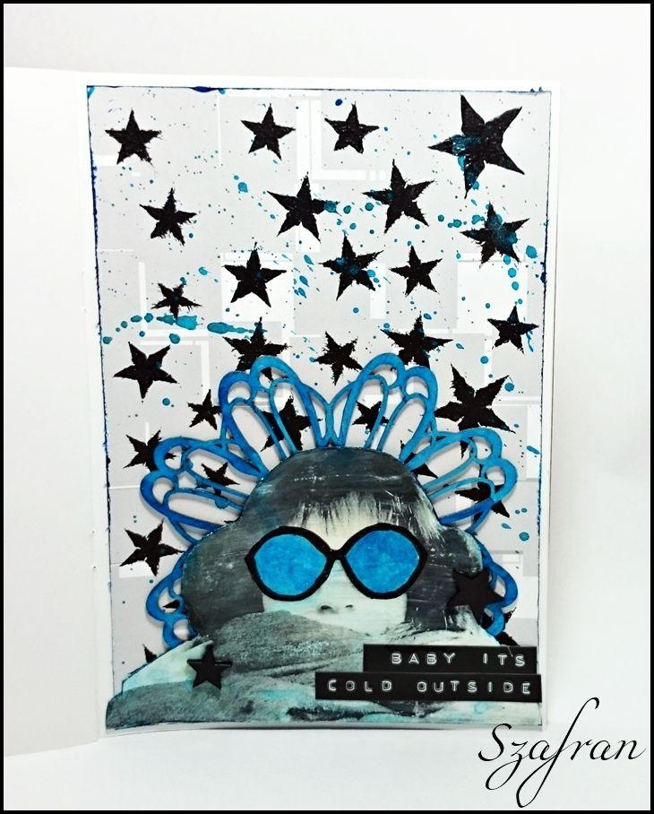 Szafranowe Twory: art journalowy portretowy sTworek dla TricksArt! :)