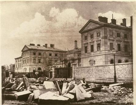Travaux de l'Hopital LARIBOISIERE à PARIS - Louis Adolphe Humbert de Molard 1850