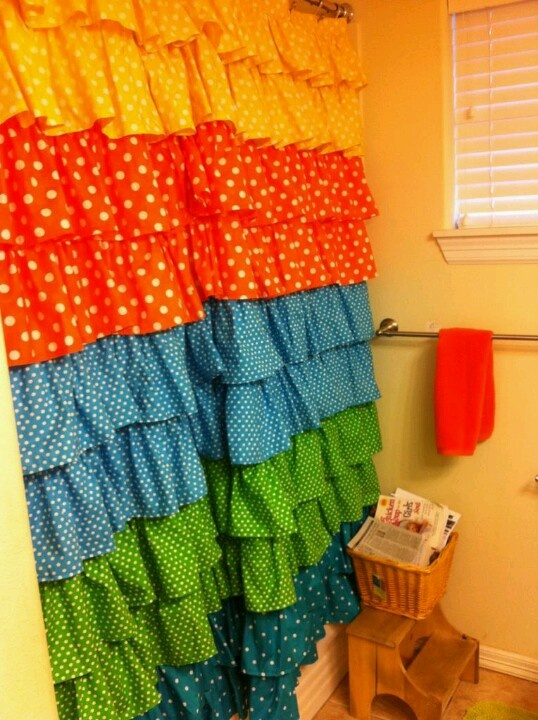85 Best Images About Ruffle Shower Curtain On Pinterest