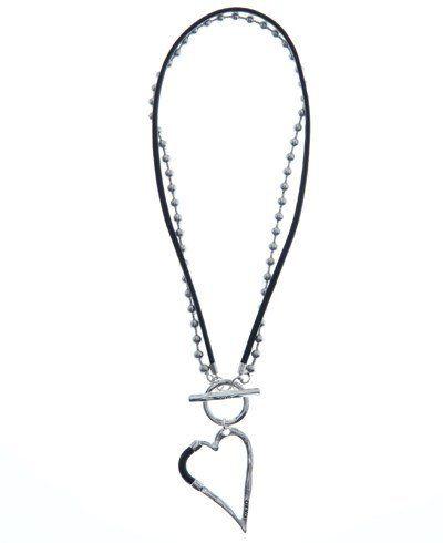 OXXO Design - Halsband 2 I 1 Hjärta Läder