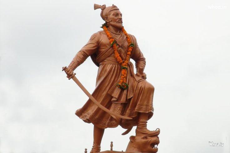 Chatrapati Shivaji Maharaj Standing Statue HD Wallpaper,Shivaji Maharaj Statue HD Wallpaper Free Download,Shivaji Maharaj Art HD Wallpaper And Images